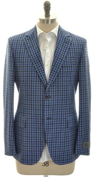 Belvest Sport Coat Jacket 2B Wool Silk Linen Size 38 Blue ...