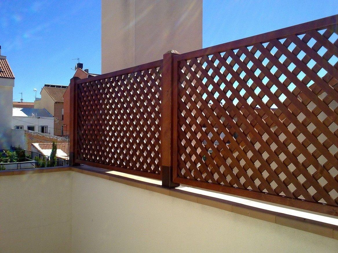 Celosias vallas jardineras bancos pergojardin for Decoracion vallas jardin