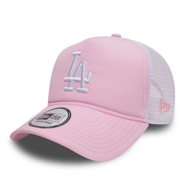 New Era MLB LA Dodgers Oxford Trucker Cap - Pink  7f981644757f