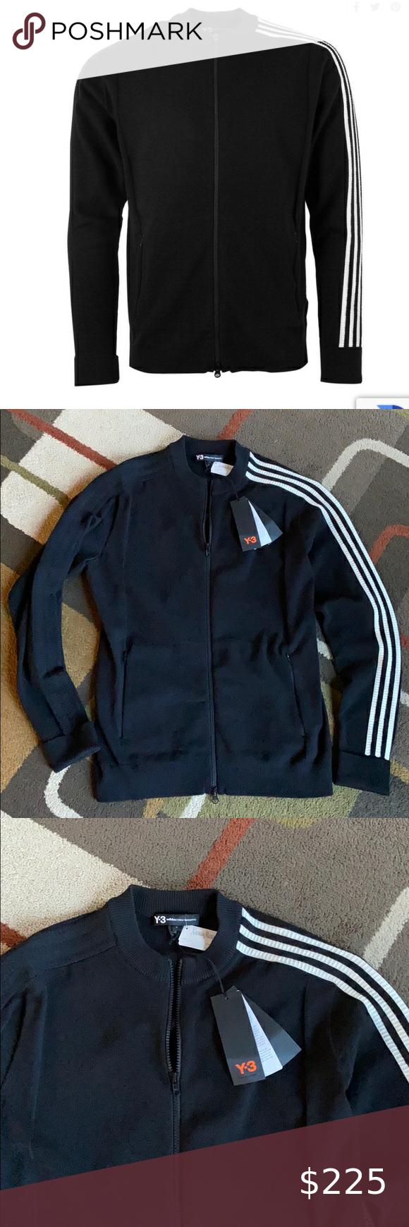 Men S Nwt Yohji Yamamoto Adidas Y 3 Track Jacket Adidas Track Jacket Track Jackets Knit Jacket