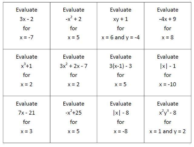 Math Love Bloglovin Evaluating Algebraic Expressions Algebraic Expressions Evaluating Expressions Evaluating expressions worksheet 6th grade