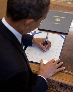 President Obama, Whou0027s Left Handed, Signs Papers In The Oval Office: Studies