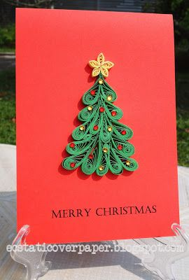 Ecstatic Over Paper More Christmas Trees Paper Quilling Designs Paper Quilling Cards Quilling Christmas