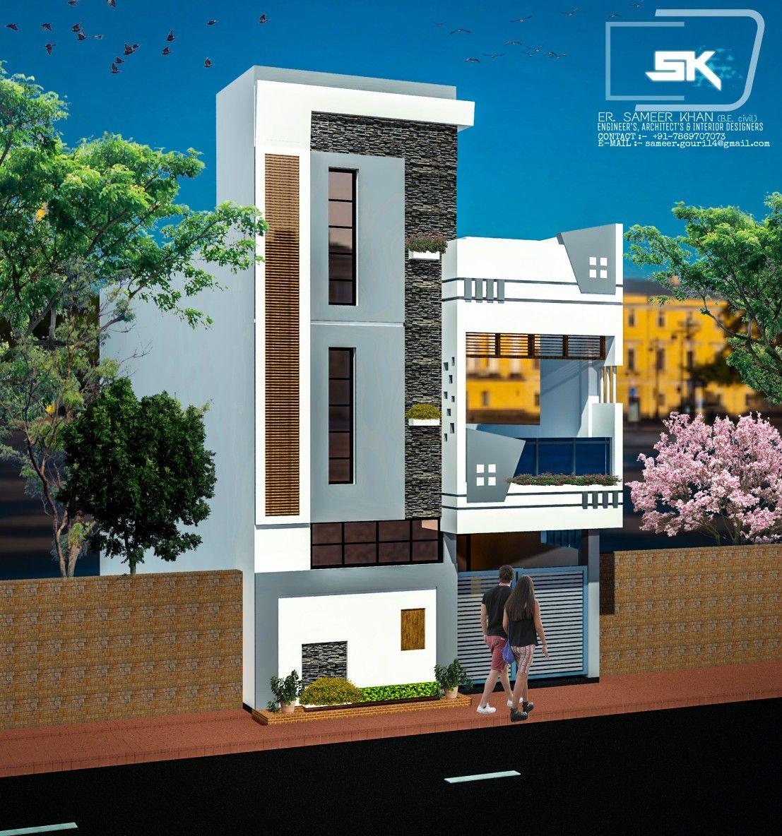 Introducing modern house elevation design in  front  by er sameer khan also best single story independent rh pinterest