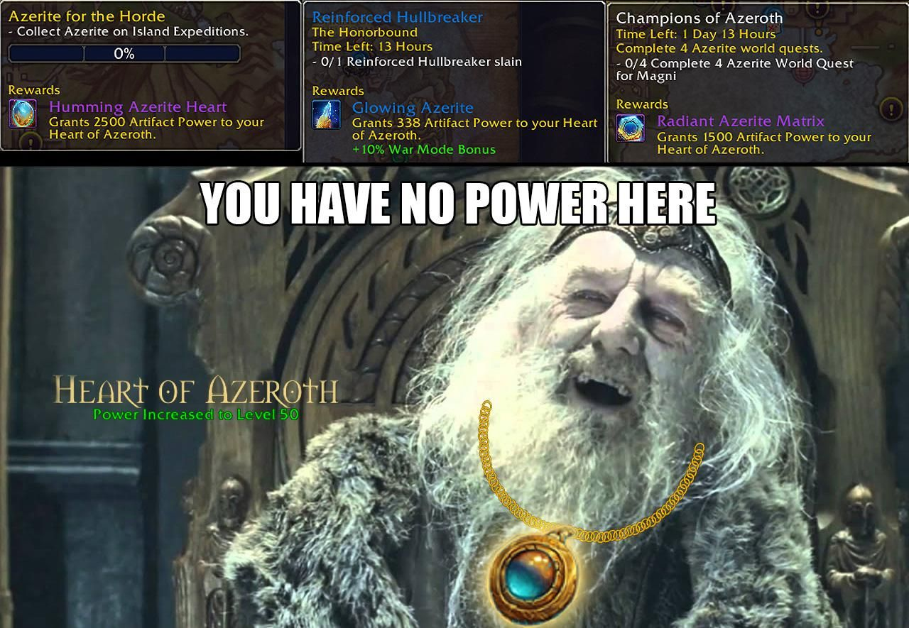 How I feel after hitting 50 on my Heart of Azeroth | wow