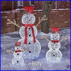 Outdoor Christmas Decoration Crystal Bead Led Light Snowman Yard Decor Holiday