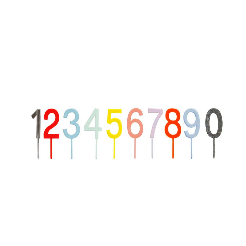 molly meg 20 multicoloured number cake toppers