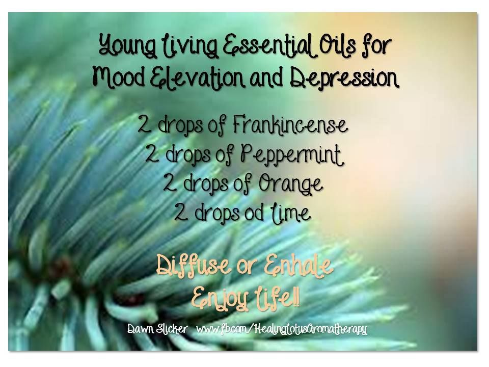 essential oil diffuser blend for mood elevation and depression - frankincense peppermint orange lime