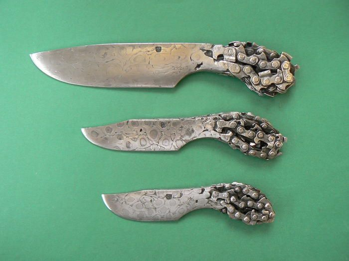 Knife Made From Chainsaw Chain Google Search Chainsaw