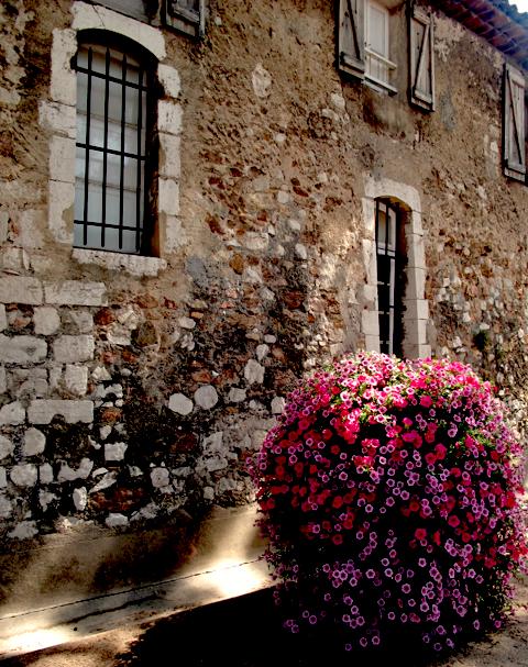 petit angle à fleurs