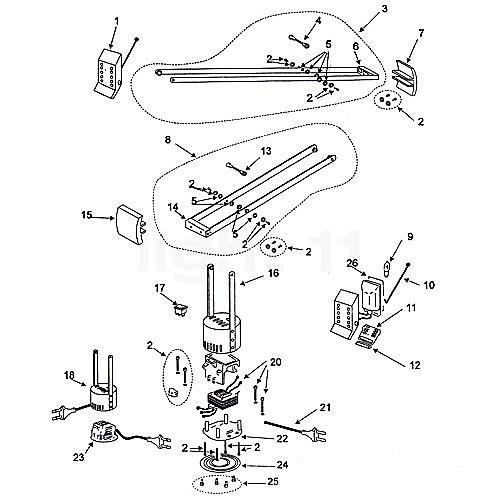 Artemide Spare parts for Tizio 35, black | Home, Furniture