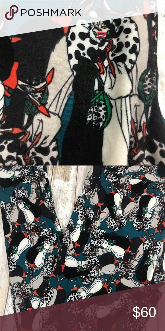 14ac03c8d17202 LULAROE DISNEY VILLAIN CRUELLA DE VIL TC LEGGINGS AMAZING brand new tc  (12-18) leggings with cruella de vil looking evil in her fur coat. LuLaRoe  Pants ...