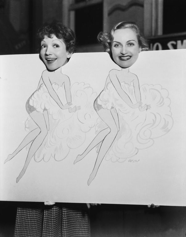 Claudette Colbert and Carole Lombard