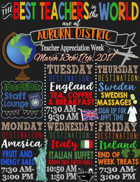 Best Teachers In The World Theme Teacher Appreciation Week Etsy In 2021 Teacher Appreciation Themes Teacher Appreciation Week Teacher Appreciation Week Themes