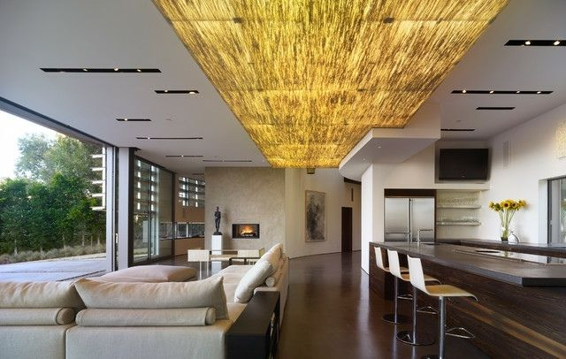 Indirekte LED Beleuchtung Wandpaneele Decke Gestaltung   Deckengestaltung  Als Akzent Im Interieur