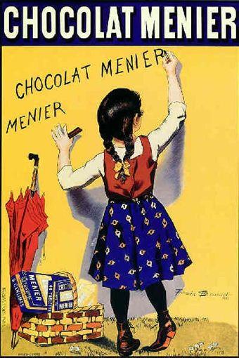 firmin bouisset chocolat menier 1893 affiches pinterest affiches publicitaires vintage. Black Bedroom Furniture Sets. Home Design Ideas