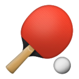 The Table Tennis Paddle And Ball Emoji On Iemoji Com Table Tennis Emoji Ping Pong Paddles