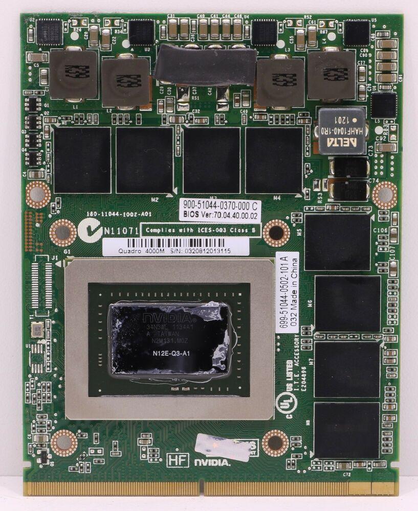 eBay #Sponsored NVIDIA Quadro K4000M 4GB MXM N14E-Q3-A2