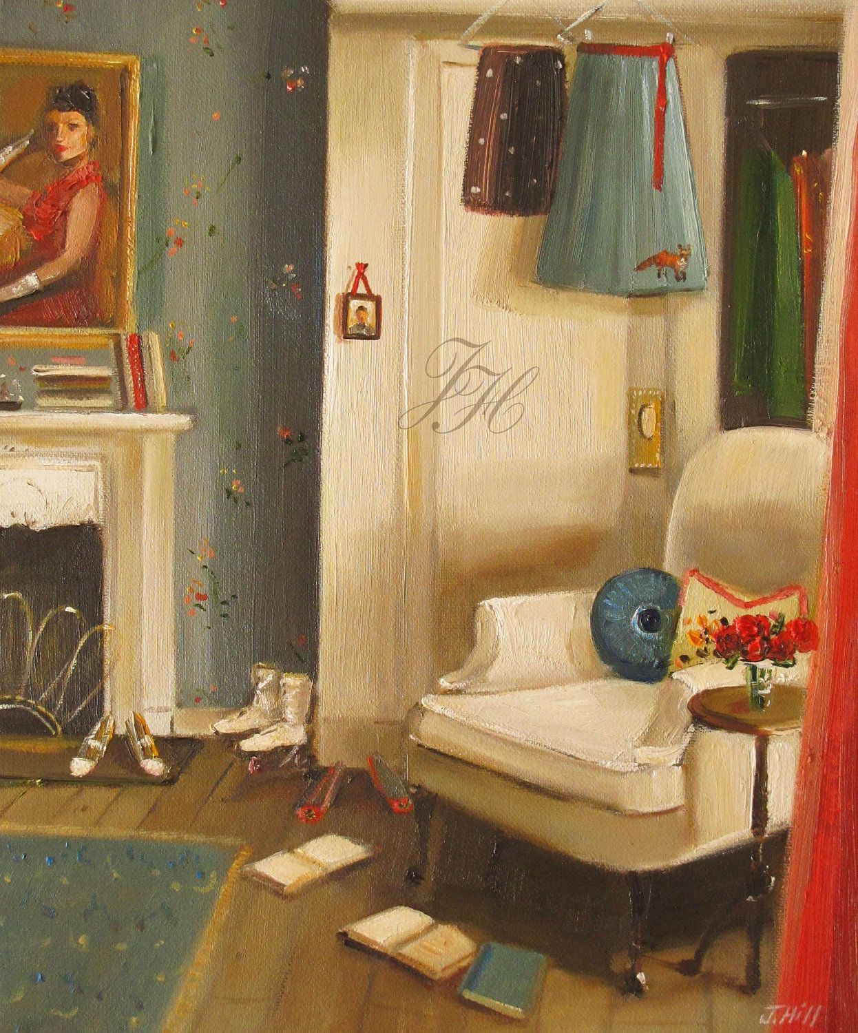 Catherine\'s Cluttered Room- Limited Edition Print. | Janet Hill/Art ...