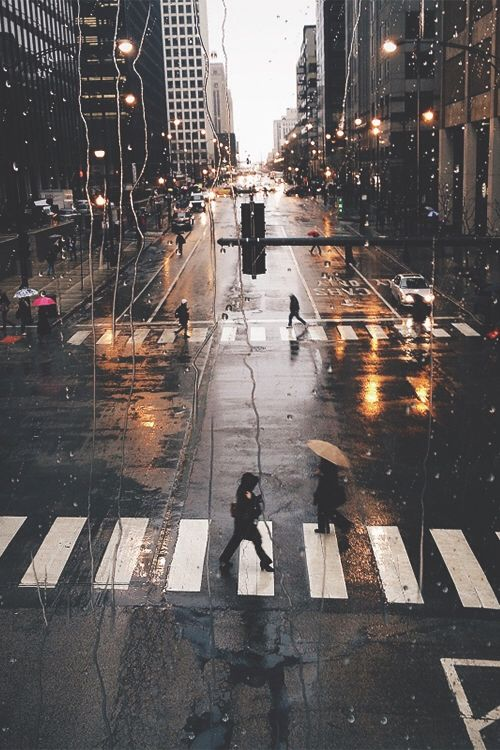 Gorgeous Rainy New York City Paysage Urbain Photographie