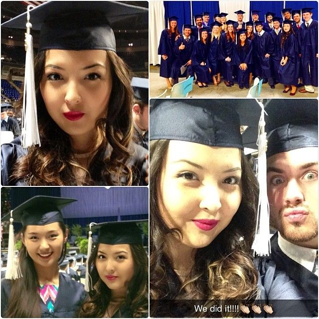 A collage of scenes from industrial engineering graduate Zarina Jakipbayeva. #PSUgrad