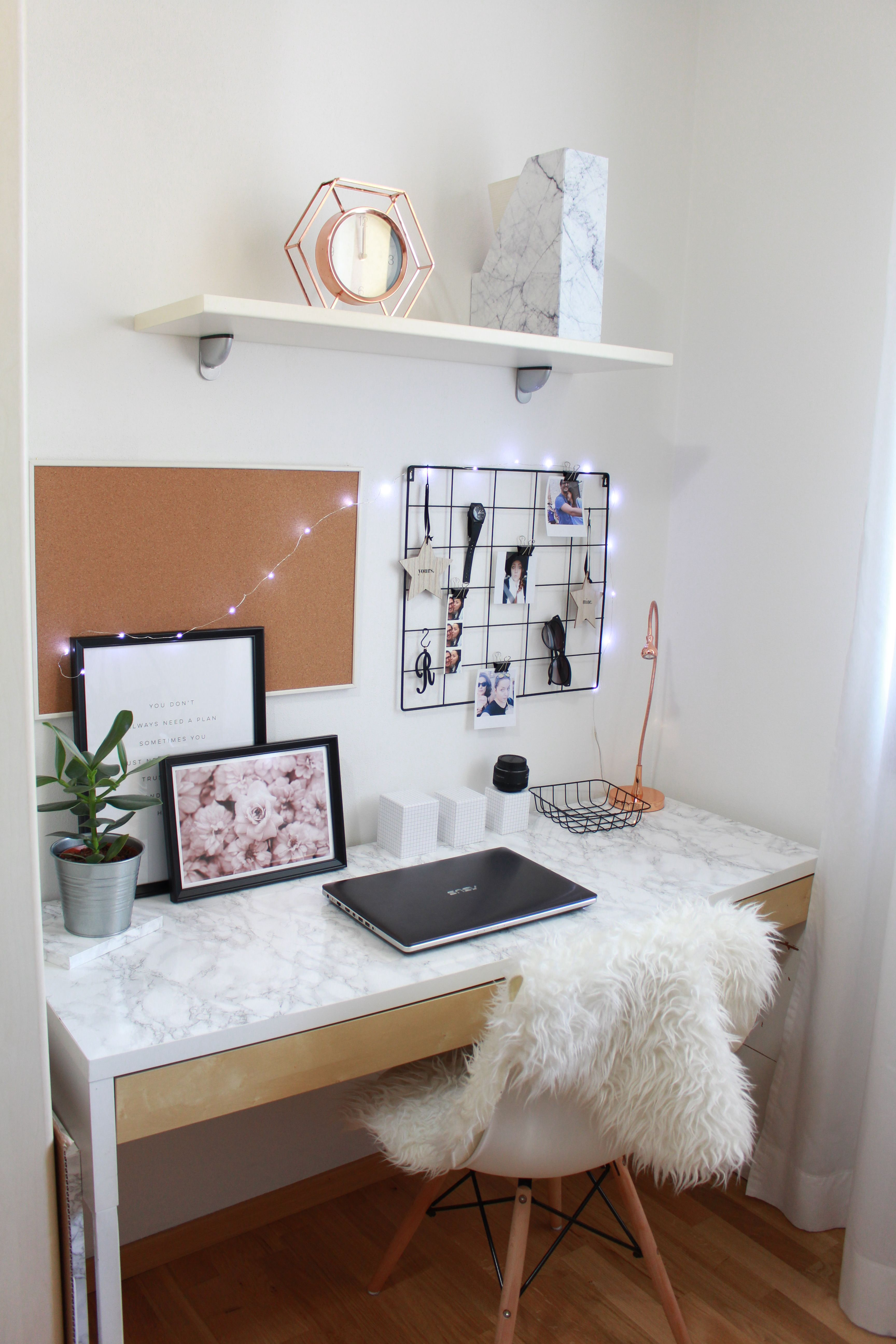 20 Inspirational Home Office Decor Ideas For 2019: Modern Office Decor, Room Decor, Cute Room Ideas