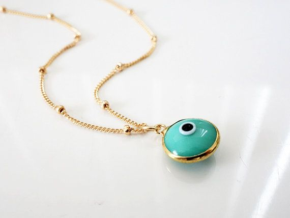 Turquoise blue evil eye necklace gold evil eye jewelry turquoise blue evil eye necklace gold evil eye jewelry protection amulet mozeypictures Images