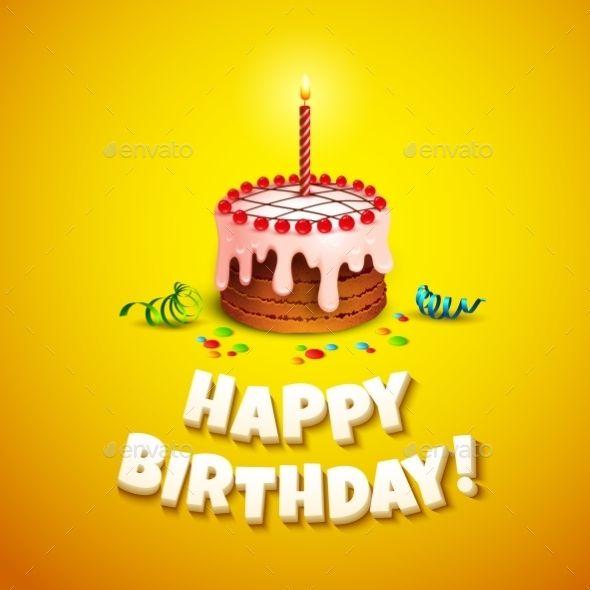 Birthday Card Happy Birthday Candles Cake Happy 29th Birthday Birthday Cake Card