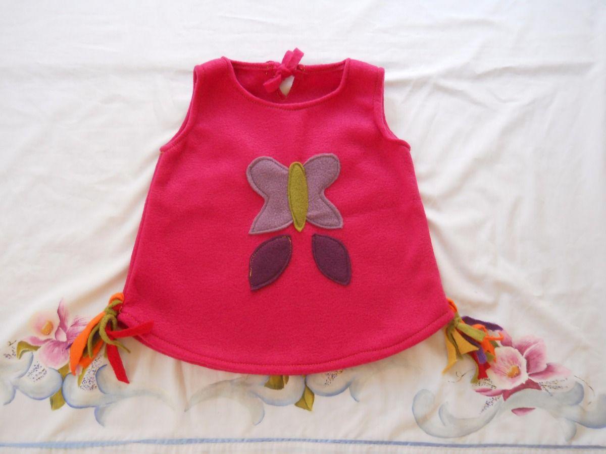 (1) Chalecos Polar Nena Nene Beba Elefante Violeta Mariposa - $ 260,00 en  MercadoLibre