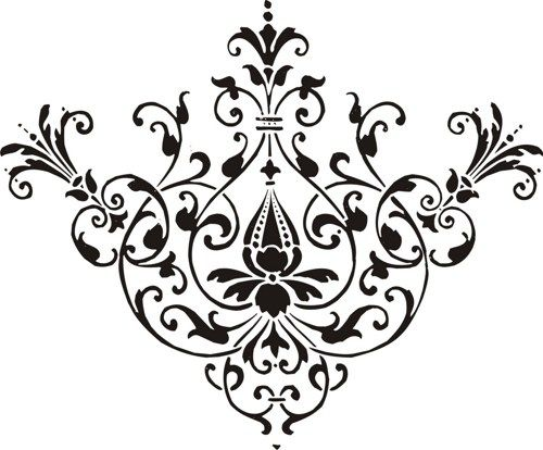 pin by nadia wolf on ornamental design pinterest baroque design rh pinterest co uk free damask pattern clip art damask borders clip art free