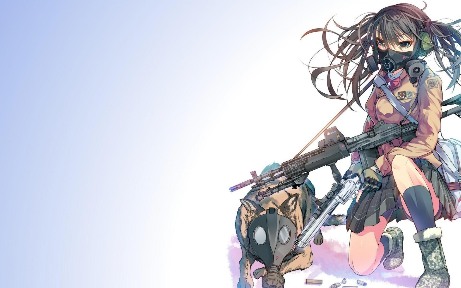 Pin by Oscar Ramos on Anime girl gun Pinterest Wallpapers