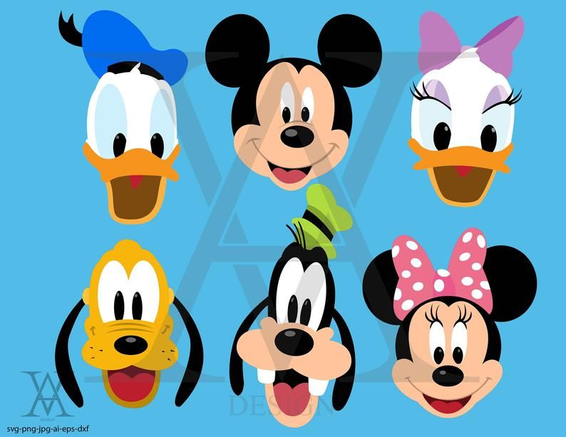 Mickey Mouse Clubhouse Vector Clipart Instant Download Svg Png Eps Dxf Ai Jpg Mickey Mouse Mickey And Friends Mickey Mouse Clubhouse