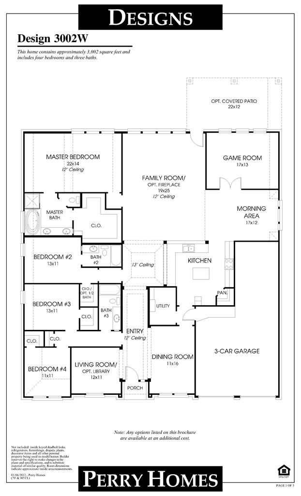 Perry Homes Find Your New Perry Home Perry Homes One Story Homes House Plans