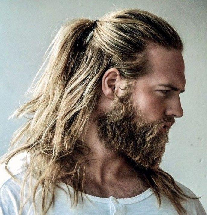 Erkekler Icin Arkadan Bagli Uzun Sac Man Ponytail Long Hair