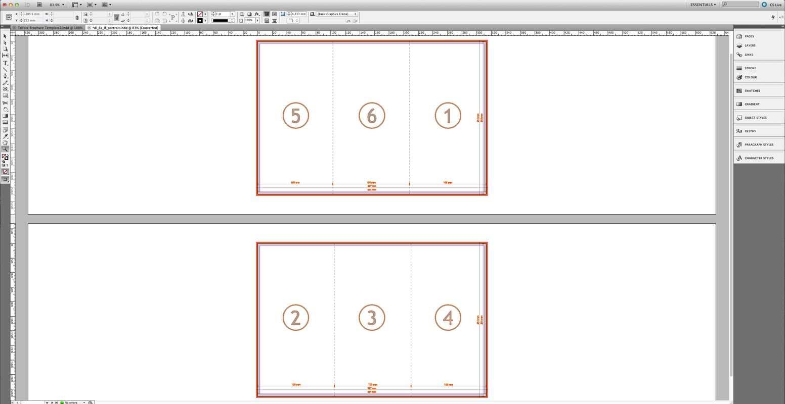 Tutorial Create A Tri Fold Business Brochure Saxoprint In Z Fold Brochure Template Indesign Best Trifold Brochure Template Brochure Size Brochure Template