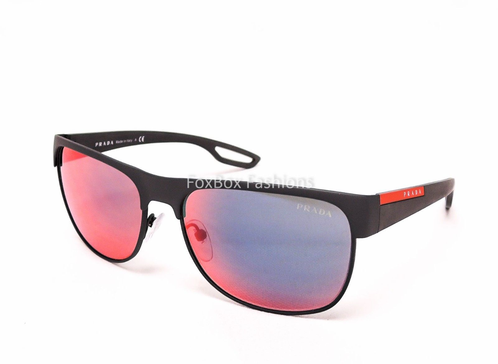36119dd30865 ... cheap prada sport linea rossa sps 57q tfz 9q1 sunglasses rubberized red  blue mirror 05101 b6d82