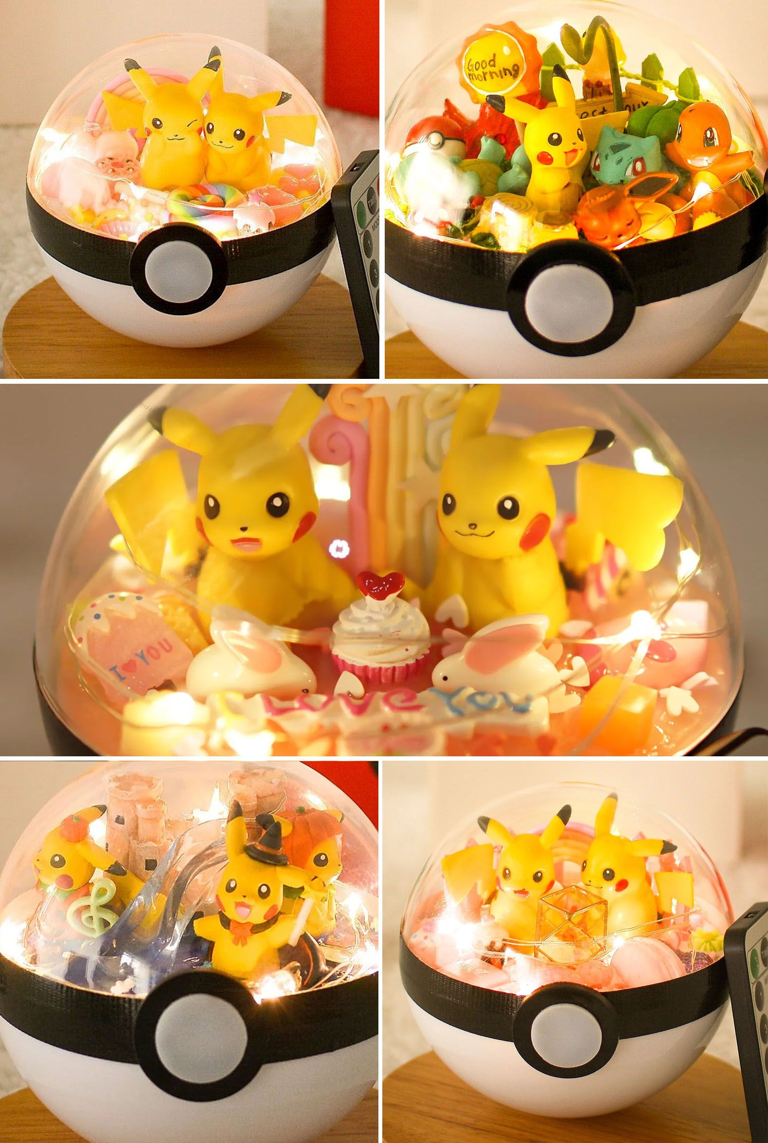 Light up pokeball terrariums anime pinterest gelatinas and friki