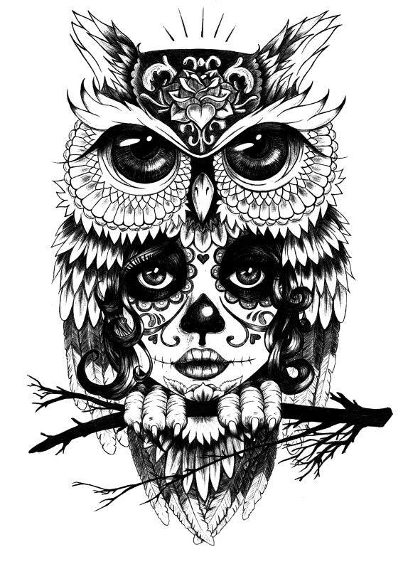 Owl Illustration Owl Tattoo Tattoos Owl Tattoo Design