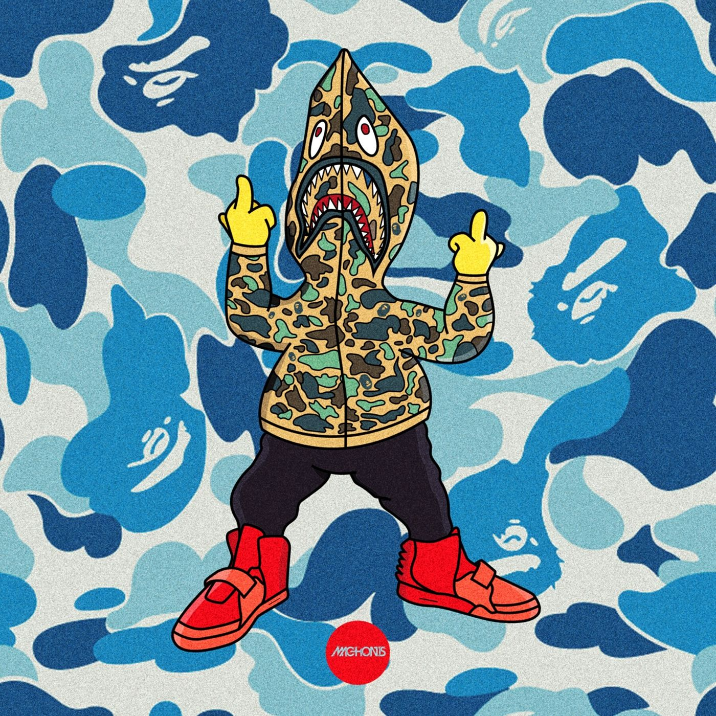 Pin by aka.brodie on Bart simpsons Bape wallpapers