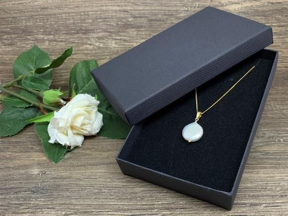 Single Pearl Necklace Christmas Girlfriend Gift Bridal Necklace Freshwater Pearl Jewelry Single Pearl Necklace Christmas Girlfriend Gift Bridal Necklace Freshwater Pearl...