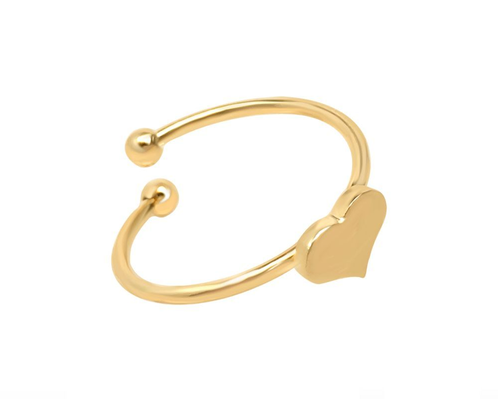 Adjustable Gold Heart Ring Kind and Purehearted
