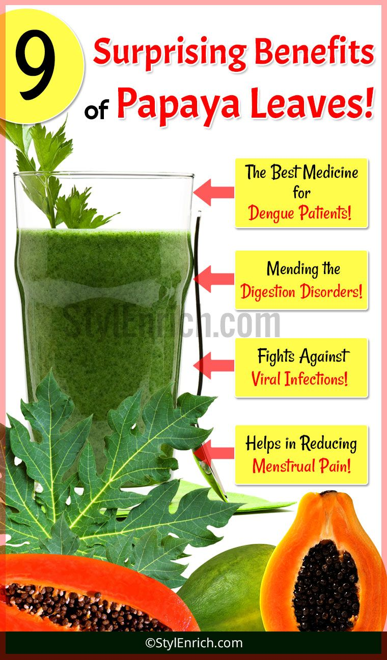 Papaya Leaves Juice Benefits for Healthy Natural Life... | Health ...