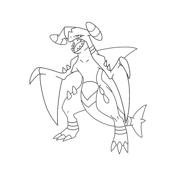 Free Garchomp Template By Behindclosedeyes00 On Deviantart Garchomp Coloring Pages