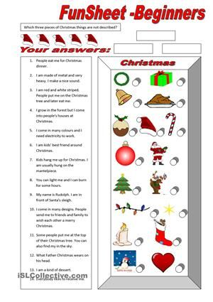 A Funsheet for beginniners testing their reading skills and vocabulary. Read text pieces and match with corret picture. It is a good way to get students started with reading. - ESL worksheets