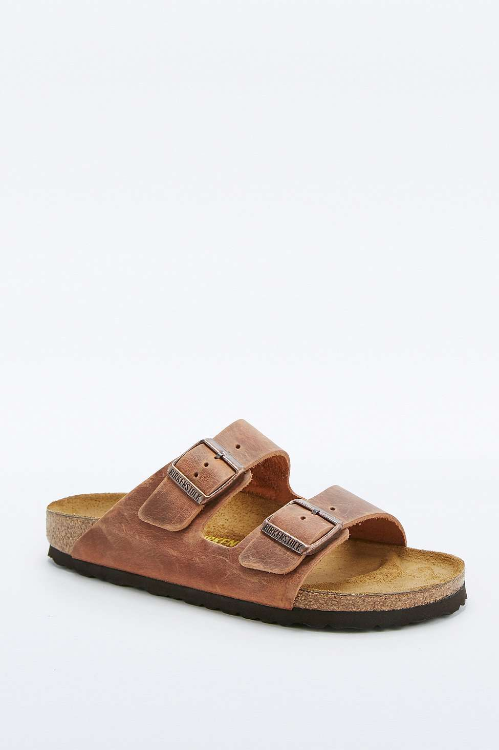Birkenstock Arizona Antique Tan Natural Leather Sandals  238f0782964