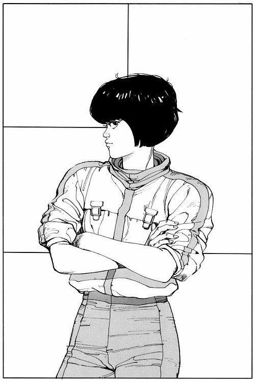 ungoliantschilde:  Katsuhiro Otomo ~ Splash page from Akira