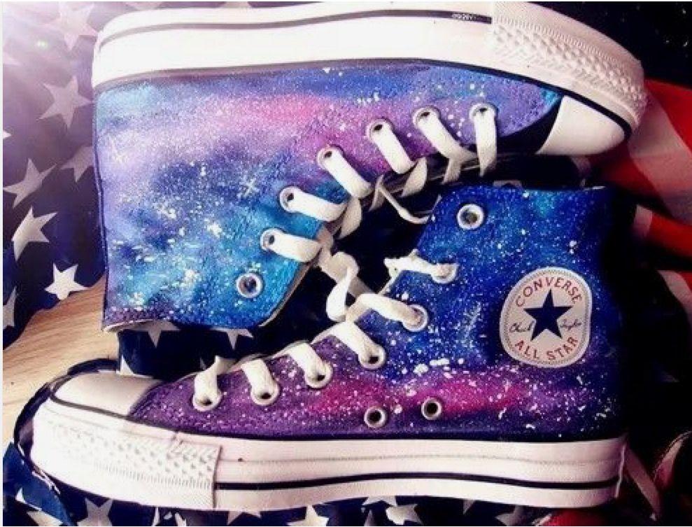 My Life= Galaxy + Converse | Galaxy converse, Galaxy shoes