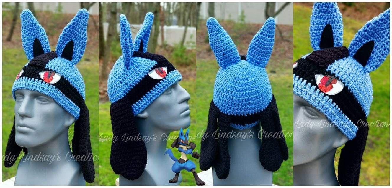 9b70b7330563d #Lucario #Riolu #Pokémon #Pokemon #Crochet #Beanie #Hat #Cap #Custom  #Commission #Handmade #Handcrafted #Artisan #Handpainted #ShopSmall  #Shopping #Nerd ...