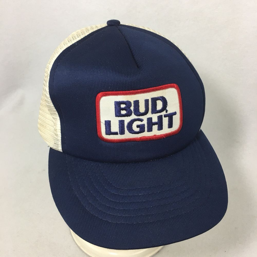 f39dc013 Vintage BUD LIGHT Beer Trucker Hat Mesh Patch Budweiser Snapback Mens Ball  Cap #Capital #TruckerHat