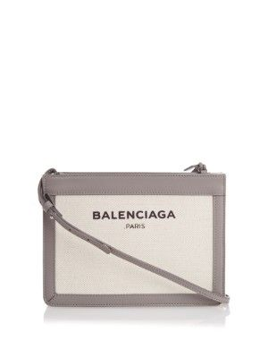 Navy Mini cotton-canvas cross-body bag | Balenciaga | MATCHESFASHION.COM UK